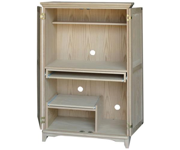 Mission Computer Armoire, Available In Pine, Maple, U0026 Oak